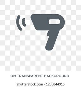 Barcode scanner icon. Barcode scanner design concept from Electronic devices collection. Simple element vector illustration on transparent background.