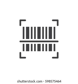 Barcode scanner icon vector, filled flat sign, solid pictogram isolated on white. Symbol, logo illustration. Pixel perfect
