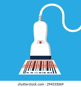 Barcode Scanner.Vector Flat Icon