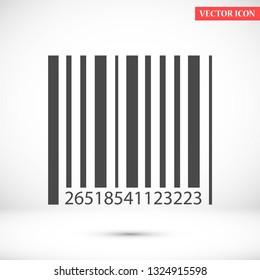 barcode vector icon 10 eps