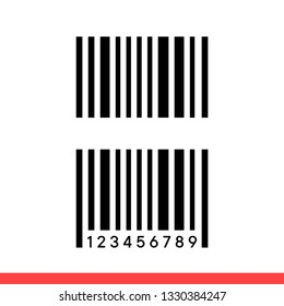 Barcode vector icon, label symbol. Simple, flat design for web or mobile app