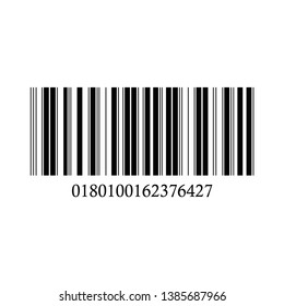 Barcode vector icon on a white background.