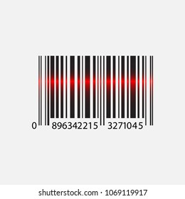 Barcode vector illustration. Isolated on white background.