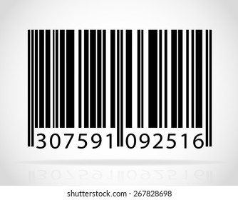barcode vector illustration isolated on white background
