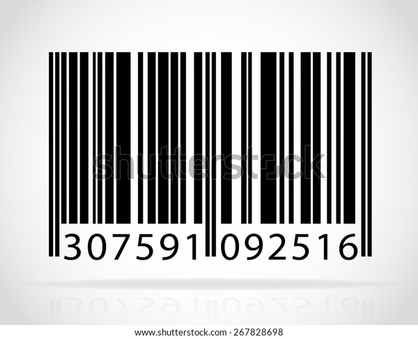 Barcode Vector Illustration Isolated On White Stock Vector
