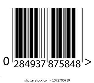 Barcode vector illustration.Realistic barcode icon. - Vector