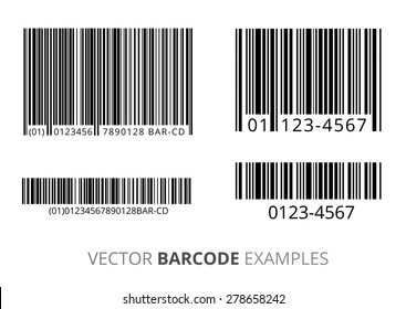 Barcodes vector set