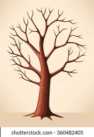 Bare brown tree