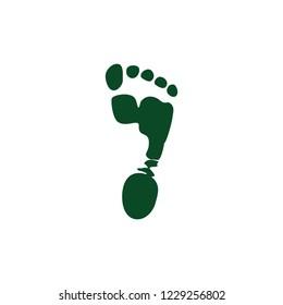 barefoot print symbol vector
