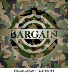 Bargain camouflaged emblem