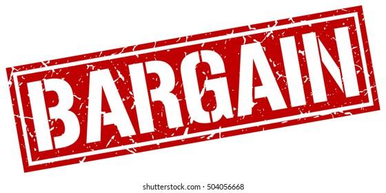 bargain. grunge vintage bargain square stamp. bargain stamp.