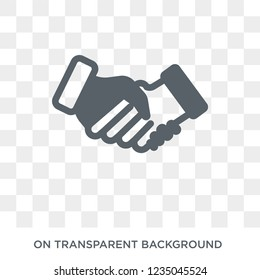 Bargain icon. Trendy flat vector Bargain icon on transparent background from law and justice collection.