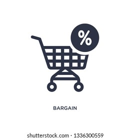 bargain isolated icon. Simple element illustration from law and justice concept. bargain editable logo symbol design on white background. Can be use for web and mobile.