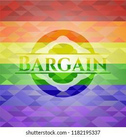 Bargain lgbt colors emblem