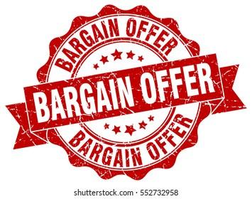 bargain offer. stamp. sticker. seal. round grunge vintage ribbon bargain offer sign