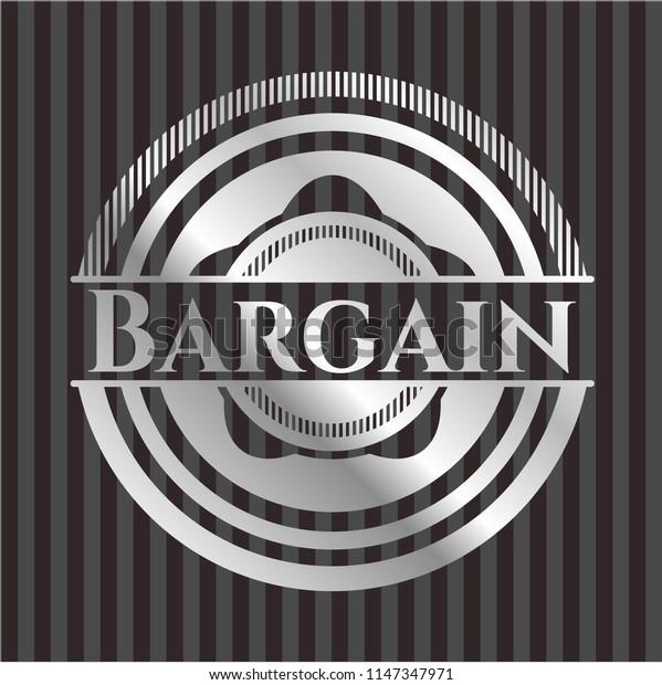 Bargain silvery emblem or badge
