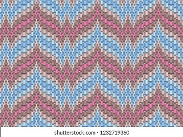 Bargello. Flame stitch. Traditional Florentine embroidery. Seamless vector pattern for design fabrics, textiles, bedspreads