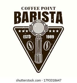 portafilter vector images stock photos vectors shutterstock https www shutterstock com image vector barista coffee point vector emblem badge 1793318647