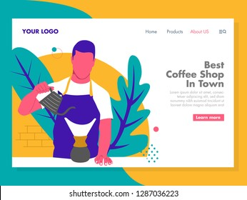 Barista Illustration for landing page