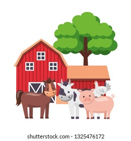 barn animals tree farm