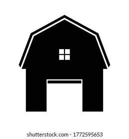 Barn Farm Icon isolated on white background, Barn Farm icon vector simple sign