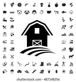 Barn icon illustration isolated vector sign symbol
