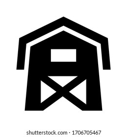 barn icon or logo isolated sign symbol vector illustration - high quality black style vector icons