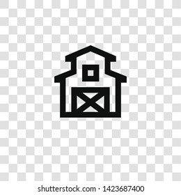 barn icon from miscellaneous collection for mobile concept and web apps icon. Transparent outline, thin line barn icon for website design and mobile, app development