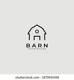 Barn logo vector illustration design