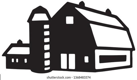 Barn - Retro Ad Art Illustration