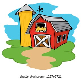 Cartoon Illustration Barn Images Stock Photos Vectors