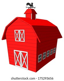 Barn -  Vector Artwork (isolated on white background).