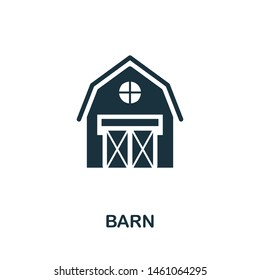 Barn vector icon illustration. Creative sign from farm icons collection. Filled flat Barn icon for computer and mobile. Symbol, logo vector graphics.