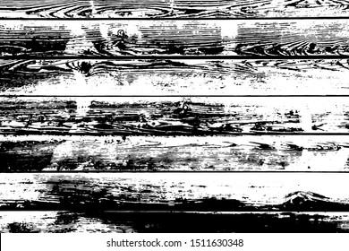 Barnwood vector texture overlay. Wood planks isolated on white background