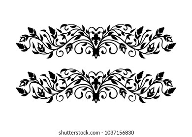 Barocco vintage pattern on white background Vector Element for Disign