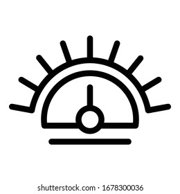 Barometer control icon. Outline barometer control vector icon for web design isolated on white background