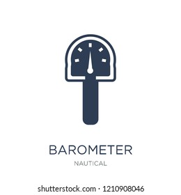 Barometer icon. Trendy flat vector Barometer icon on white background from Nautical collection, vector illustration can be use for web and mobile, eps10