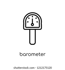 Barometer icon. Trendy modern flat linear vector Barometer icon on white background from thin line Nautical collection, editable outline stroke vector illustration