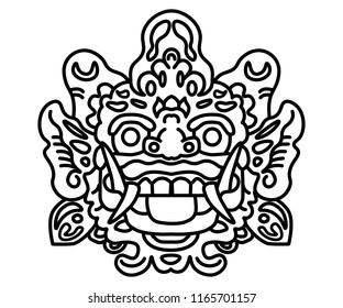 Barong Bali Illustration