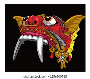 Barong, Gandrung culture from Javanese Indonesian vector design