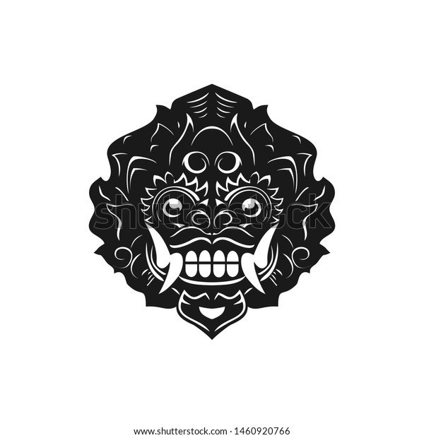 Barong Traditional Ritual Balinese Mask Vector Stock Vector