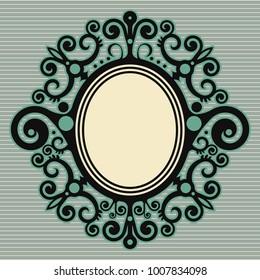baroque floral design, decorative ornate frame, vector vintage decoration