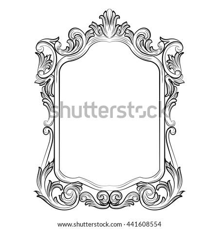 Baroque Rococo Mirror Frame Decor Vector Stock Vector Royalty Free Custom Rococo Decorative Wall Tile