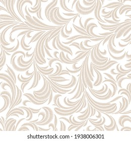 Baroque seamless embroidery pattern for bed linen.