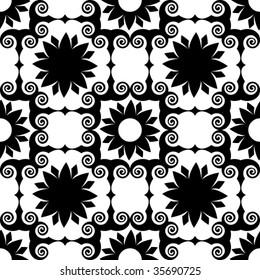 baroque vector pattern