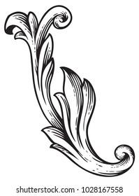 Baroque vintage element for design