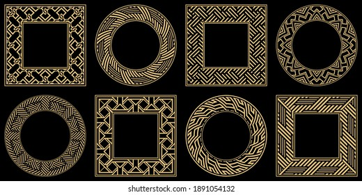 Baroque-style patterns. Ornaments. Vintage frame. Greeting card. Wedding invitation. Retro style. Wenzel, decorative frames. Vector logo, template, labels, and icons. Vector illustration.