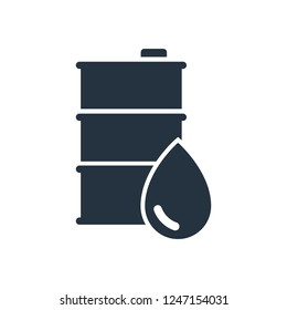 barrel, drop isolated icon on white background, oil industry