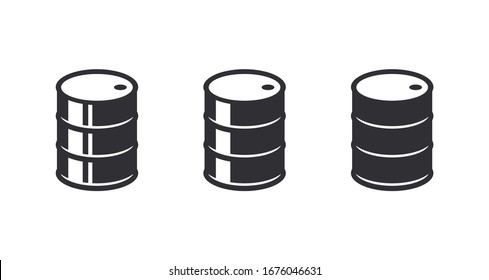 Barrel icon. Black barrel with oil labels. Oil barrel. Drop icon. Oil drop. Blob icon. Dribble. Oil stocks. Logo template. Gallon fuel. Fuel icon. Fuel barrel. Gas station. Stocks. Market.