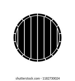 Barrel icon, silhouette, logo on white background Distort